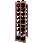Individual Bottle Wine Rack - 2 Column W/Lower Display, 3 ft high - Black, Mahogany