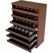 Bulk Storage, Pull Out Wine Bottle Cradle, 6-Drawer 3 Ft high - Unstained Mahogany