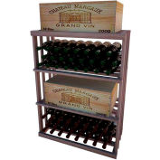 Bulk Storage, Wine Bottle Shelf, 3-Shelf, 3 Ft high - Unstained Mahogany