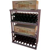 Bulk Storage, Wine Bottle Shelf, 3-Shelf, 3 Ft high - Unstained Mahogany