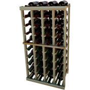 Individual Bottle Wine Rack - 4 Columns, 3 ft high - Mahogany, Redwood