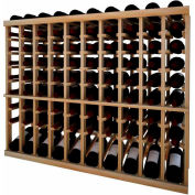 Individual Bottle Wine Rack - 10 Column W/Lower Display, 3 ft high - Walnut, Redwood