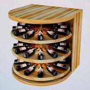 Bulk Storage, Rotating Wine Bottle Cradle, 3-Level 3 Ft high - Walnut, Redwood