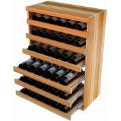 Bulk Storage, Pull Out Wine Bottle Cradle, 6-Drawer 3 Ft high - Light, Redwood