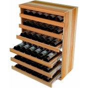 Bulk Storage, Pull Out Wine Bottle Cradle, 6-Drawer 3 Ft high - Black, Redwood