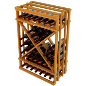 Diamond Cube Wine Rack - 1 Column, 3 ft high - Unstained Redwood