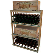 Bulk Storage, Wine Bottle Shelf, 3-Shelf, 3 Ft high - Unstained Redwood