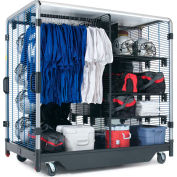 "GearBoss® Uniform & Gear Team Cart Locker, 48""W x 78""D x 79""H"