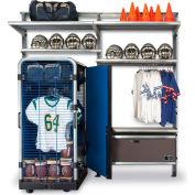 """GearBoss® Uniform & Gear Shelving Storage System Locker, 100""""W x 32""""D x 96""""H"""
