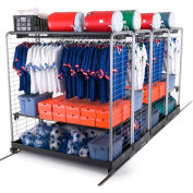 "GearBoss® II Uniform & Gear High-Density Storage Sys Locker, 130""W x 72-11/16""D x 79""H, 4 Units"
