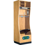 "GearBoss® Customizable Wood Team Gear Locker, 24""W x 30-5/16""D x 80-13/16""H"