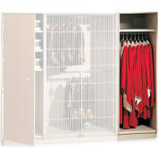 "UltraStor™ Wooden Robe & Uniform Cabinet Locker 48-1/2""W x 29-1/4""D x 85-5/8""H, 2 Compartments"