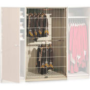 "UltraStor™ Wooden Robe & Uniform Cabinet Locker, 48-1/2""W x 29-1/4""D x 85-5/8""H, 1 Compartment"