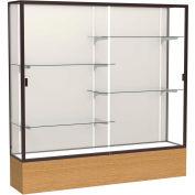 "Reliant Display Case Autumn Oak Base, Dark Bronze Frame, Fabric Back 72""W x 72""H"