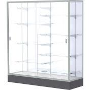 """Colossus Floor Case, White Back, Satin Frame, 60""""L x 66""""H x 20""""D"""