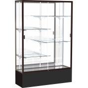 "Spirit Display Case Black Base, Bronze Frame, Mirror Back 48""W x 16""D x 72""H"