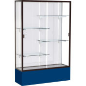 "Spirit Display Case Navy Base, Bronze Frame, White Back 48""W x 16""D x 72""H"