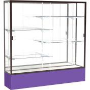 "Spirit Display Case Purple Base, Bronze Frame, Mirror Back 72""W x 16""D x 72""H"