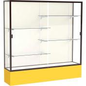 "Spirit Display Case Golden Rod Base, Bronze Frame, Fabric Back 72""W x 16""D x 72""H"