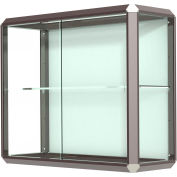 "Prominence Display Case Dark Bronze Frameame, Fabric Back 36""W x 14""D x 30""H"