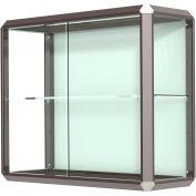 "Prominence Display Case Dark Bronze Frameame, Fabric Back 36""W x 14""D x 30""H"