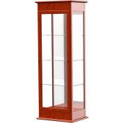 """Varsity Display Case Cherry Oak, Mirror Back 25""""W x 18""""D x 77""""H"""