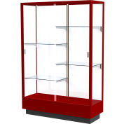 "Heritage Display Case Cordovan, White Back 48""W x 18""D x 70""H"