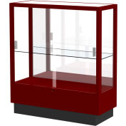 "Heritage Display Case Cordovan, Mirror Back 36""W x 14""D x 40""H"