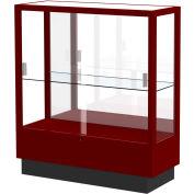 "Heritage Display Case Cordovan, Mirror Back 36""W x 14""D x 40""H"