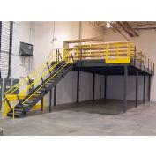 """Wildeck® Industrial Steel Mezzanine 11'W x 62' - 6""""D x 8'H Clearance"""