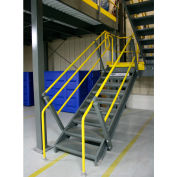 """Wildeck® OSHA Stair Closed Tread With Open Riser 36"""" Wide,  8' Clearance"""