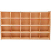 "20 Tray Cubby Storage, Assembled w/o Trays, 46-3/4""W x 12""D x 27-1/4""H"