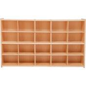 """20 Tray Cubby Storage, Assembled w/o Trays, 46-3/4""""W x 12""""D x 27-1/4""""H"""
