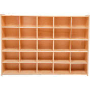 "25 Tray Cubby Storage, Assembled w/o Trays, 46-3/4""W x 12""D x 33-7/8""H"