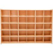"""30 Tray Cubby Storage, Unassembled w/o Trays, 50-3/4""""W x 12""""D x 33-7/8""""H"""