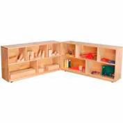 "Folding Storage, 36""H, Maple"