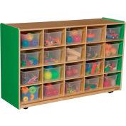 Green Apple Twenty Tray Storage with Clear Trays