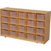 Tip-Me-Not Twenty Tray Storage with Clear Trays