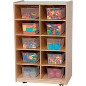 Vertical Storage with Ten Clear Trays
