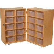 Folding Vertical Storage with Twenty Clear Trays