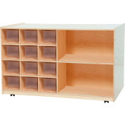 Double Mobile Storage with Twelve Clear Trays
