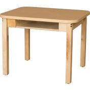 "Wood Designs Classroom High Pressure Laminate Desk with Hardwood Legs & Bookbox 18"""