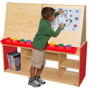 Wood Designs™ Strawberry Red Art Center For Four
