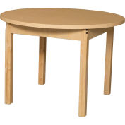 "Wood Designs 64"" x 22"" Half Circle High Pressure Laminate Activity Table w/ Adjustable Legs 18""- 29"""