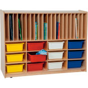 Tip-Me-Not Portfolio Storage with Twelve Assorted Trays