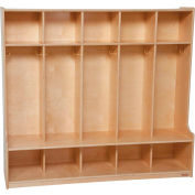 "Five Section Offset Locker, 54""W"