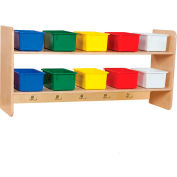 Wall Locker with Ten Assorted Trays