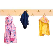 Wood Designs™ Hang-up Coat Rack with 9 2-Prong Hooks