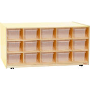 30 Tray Tot-Size Mobile Island with Clear Trays
