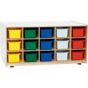 30 Tray Tot-Size Mobile Island with Assorted Trays
